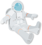 イラスト:宇宙飛行士