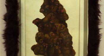 写真:猿山 2011 油彩