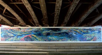 写真:新己斐橋下壁画 2007