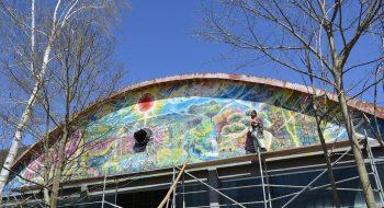 写真:ボスニア壁画1枚目 2015