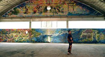 写真:ボスニア壁画2枚目 2015
