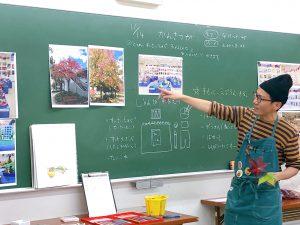 【安佐南木曜キッズ】透明水彩絵具の観察画