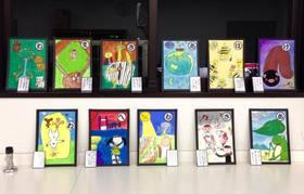 五日市教室キッズクラス 「かるた絵」描きました!