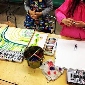 プチクラスで「ぐるぐるアート」
