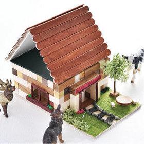 夏は、ウッドブロックの家☆で工作しよう!