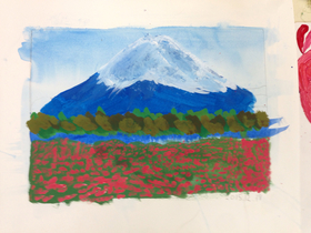 富士山描きました