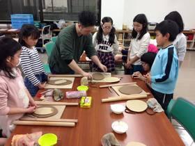 安佐南教室ジュニアクラス 陶芸に挑戦!