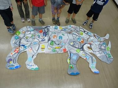 安佐南教室木曜クラス動物パズル