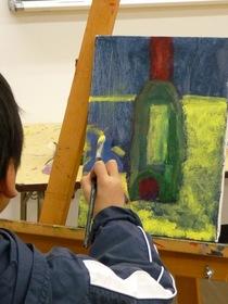 安佐南教室Jr.クラス油絵実習