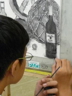 夏休み工作教室「静物画」