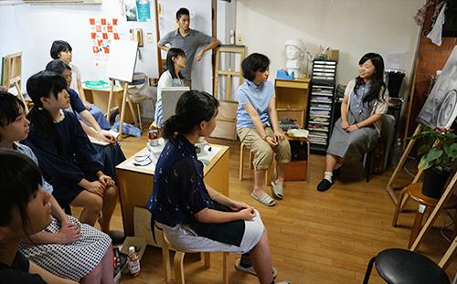 アトリエぱお 受験科対象の夏期講習2014の様子 vol.3 東京藝術大学の先輩がやってきた!