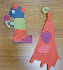 kidsプログラム「紙すき」