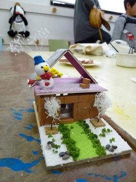 冬のミニレンガの家