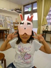 宇品教室火曜クラスのマスク仕上げ