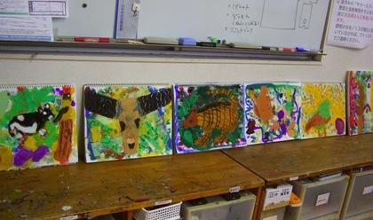 己斐教室金曜クラスのアクリル画