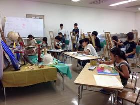 安佐南教室で静物画のレッスン